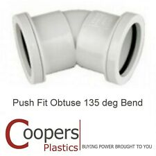 "Pushfit Obtuse Bend 45 degree White Polypipe WP18 40mm 1 1//2/"" New and Unused"