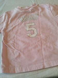 separation shoes 3f62b 08ed1 Details about Baby girl ny mets pink short shirt 18 months david wright