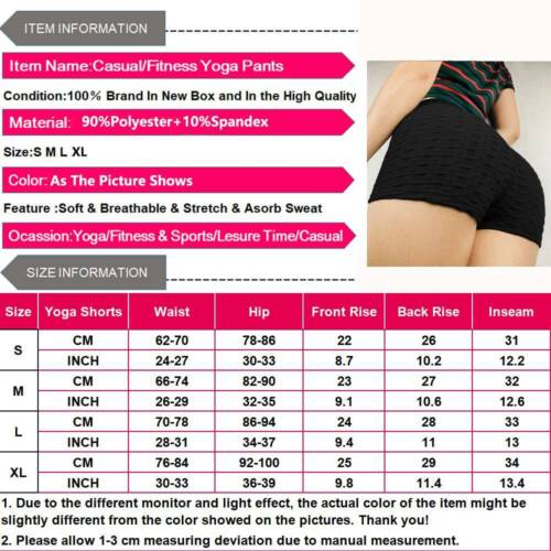 Womens Push Up Yoga Shorts Sports Compression Hot Pants Booty Gym Fitness Briefs