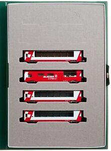 Enthousiaste Kato Echelle N 10-1146 Alps Glacier Express Interconnexion 4-car Ensemble F / Sw Jolie Et ColoréE