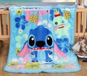 Cute-Disney-Marie-Bedding-Stitch-70-100CM-Coral-Fleece-Blanket-Geschenk-fuer-Kind