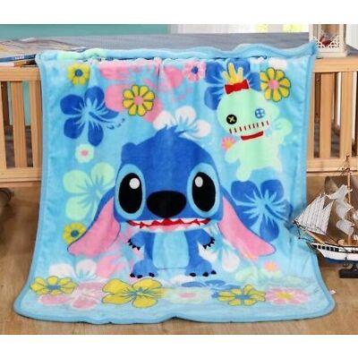 Disney Marie Bedding Cute Stitch 70*100CM Coral Fleece Throw Blanket Kid Gift