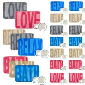 Spa Memory Foam Sink your feet Non Slip  Bath Mat in 3 designs