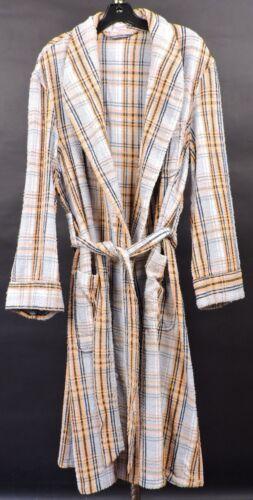 VINTAGE 1940'S MEN'S PLAID TERRY CLOTH ROBE