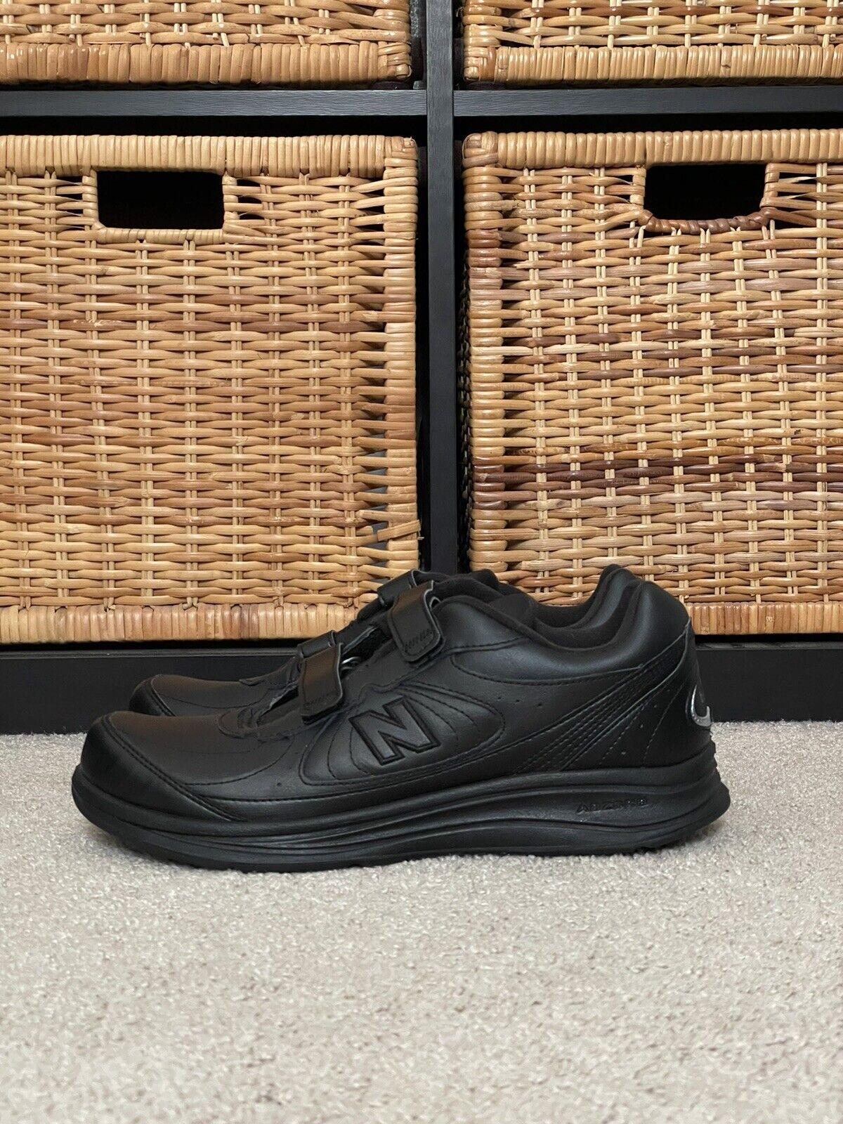 New Balance 577 MW577VK Hook & Loop Leather Sneakers, Men's Size 11 D Black