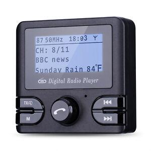 Radio Adapter Receiver Tuner Bluetooth FM Transmitter Antenna Digital Car DAB