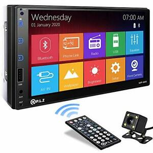 P.L.Z MP-800 Car Entertainment Multimedia System – 7 Inch Double Din HD Touch...