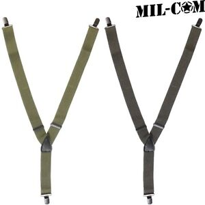 Suspenders Clip-On Black Milcom British Military Products