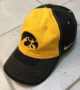 separation shoes b2873 3efd7 Image is loading New-Nike-University-Iowa-Hawkeyes-Baseball-Hat-Cap-