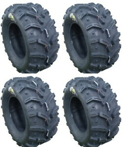 4-Deestone-Swamp-Witch-ATV-Tires-Set-2-Front-28x10-12-amp-2-Rear-28x12-12-D932