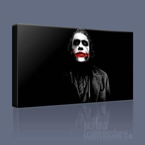 THE JOKER HEATH LEDGER BATMAN DARK KNIGHT CANVAS ART PRINT PICTURE Art Williams2
