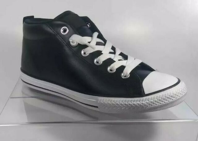 Converse All Star Chuck Taylor CTAS Street Mid Black Leather Size ...