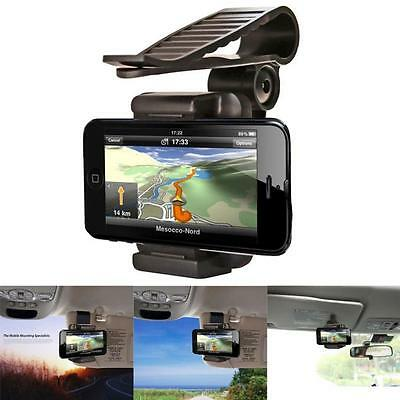 360° Universal Car Rearview Mirror Mount Holder Stand Windshield For Phone GPS