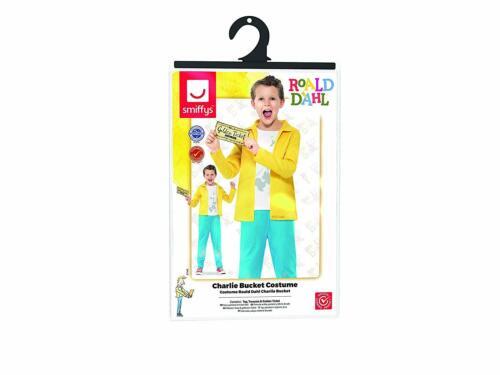 Charlie Bucket Kids Costume Billet doré Roald Dahl Willy Wonka World Book day