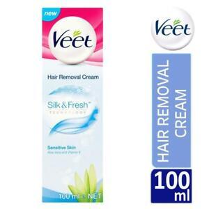 Veet Silk Fresh Hair Removal Cream 100ml For Sensitive Skin With Aloe Vera 5000158062993 Ebay