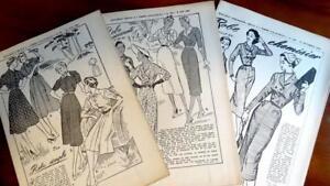 Bastel- & Künstlerbedarf 3 Rare Franz Original 50erj Schnittmuster Patron Damen Kleider 47 Vintage-mode Für Kinder