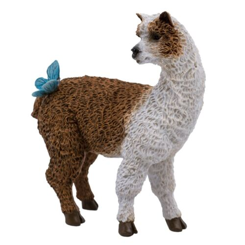 """Brown and White Llama With Butterfly Figurine 3.5/"""" High New In Box!"""