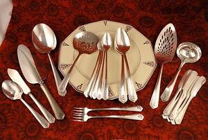 Art Deco Silver Spreaders Set of 5
