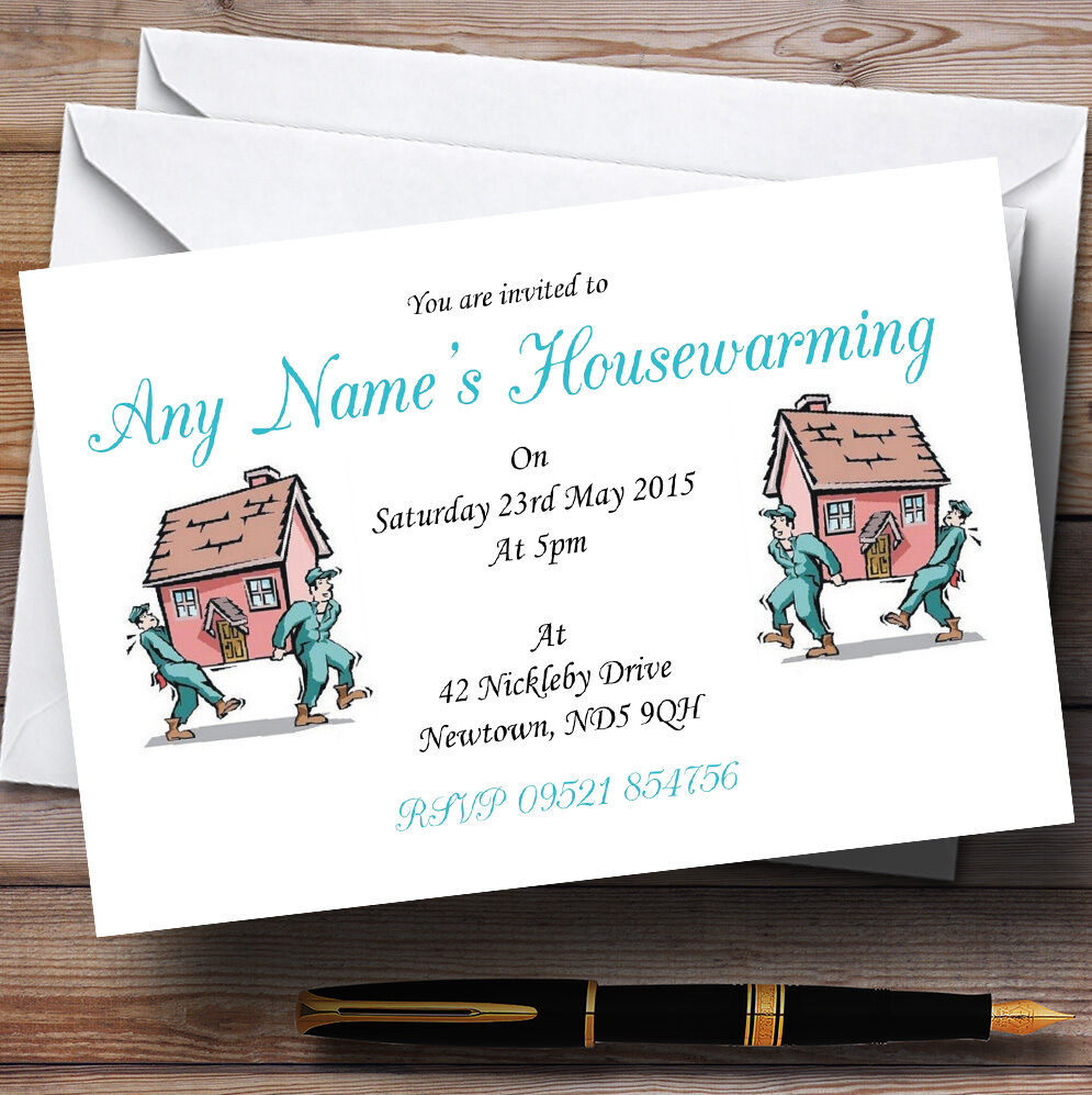 Rimozione Rimozione Rimozione degli uomini housewarming Festa Inviti Personalizzati b3b241