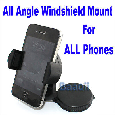 SUPPORT VOITURE IPHONE SAMSUNG GALAXY LUMIA XPERIA HTC PARE BRISE VENTOUSE GPSKK