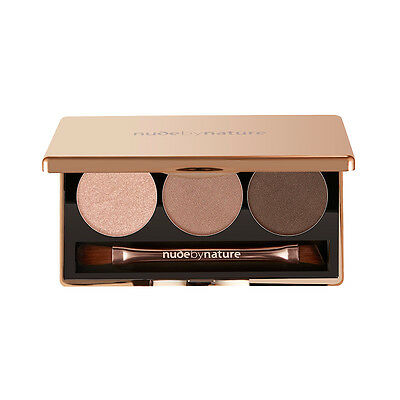 NEW nude by nature Natural Illusion Eyeshadow Trio #01 Nude 3 x 2g