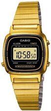 Casio señoras brazalete Reloj Digital, Negro Y Oro