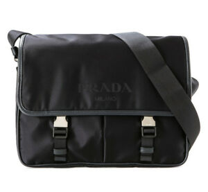 3b176d79 Details about PRADA Mens Cross Body Messenger Shoulder Bag Black 2VD768 064  NERO Nylon Auth