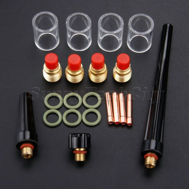 40pc Collet Gas Lens Pyrex Glass Cup Set For WP-9//20//25 Series TIG Welding Torch