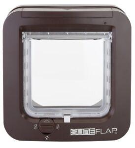 SureFlap-Microchip-Cat-Flap-Door-Brown-New-Version-Updated-2019-Model