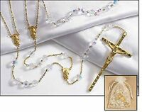 Crystal Lasso Wedding Rosary (rc859) 45 Inches Long