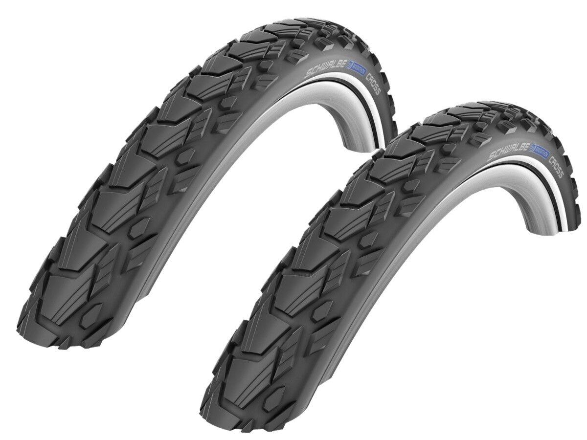 2 Pcs Schwalbe Marathon cross (Raceguard) Bike Tyre 47-559 (26x1, 75  )