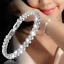 Chapado en Oro Plata Esterlina 925 Cristal claro boda nupcial Pulsera Brazalete UK