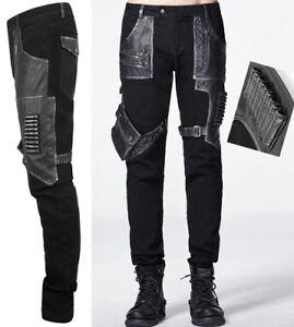 Cuir Militaire Punk Punkrave Argent Gothique Cartouche Steampunk Jeans Pantalon wqXnxCTIpE