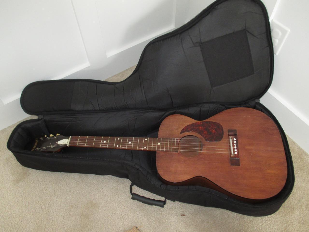Vintage Paramount Harmony USA Acoustic Guitar 40.5  Long