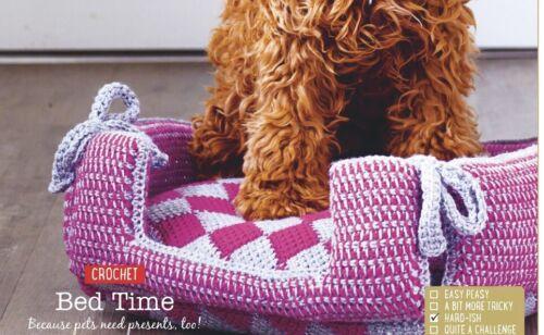 Comfy Dog Cat Bed Basket Crochet Pattern 40x40cm - 0689