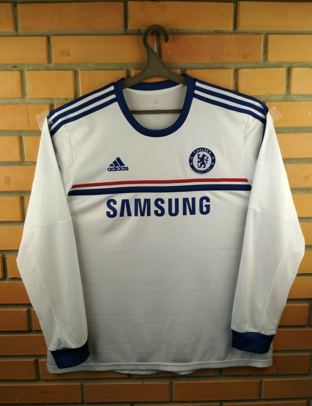 Chelsea jersey XL 2013 2014 camisa de mangas largas lejos G90260 Fútbol Fútbol Adidas