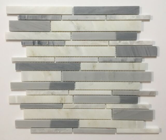 American Olean Genuine Stone Ice Gray 11 X 13 Linear Mosaic Wall Tile 5 Pcs