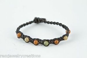 Handcrafted-Thin-Black-Braided-Leather-Friendship-Bracelet-6-inches