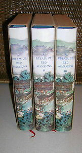 Dreams-of-Red-Mansions-Tsao-Hsueh-Chin-amp-Kao-Ngo-3-Vols-First-Editions-Slipcase