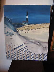 Vintage-Mid-Cent-1973-Signed-H-Nartis-or-Narris-Oil-on-Canvas-Coastal-Painting
