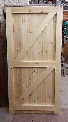 Wooden gate framed ledge and braced all sizes made t/&g garden gate bargain