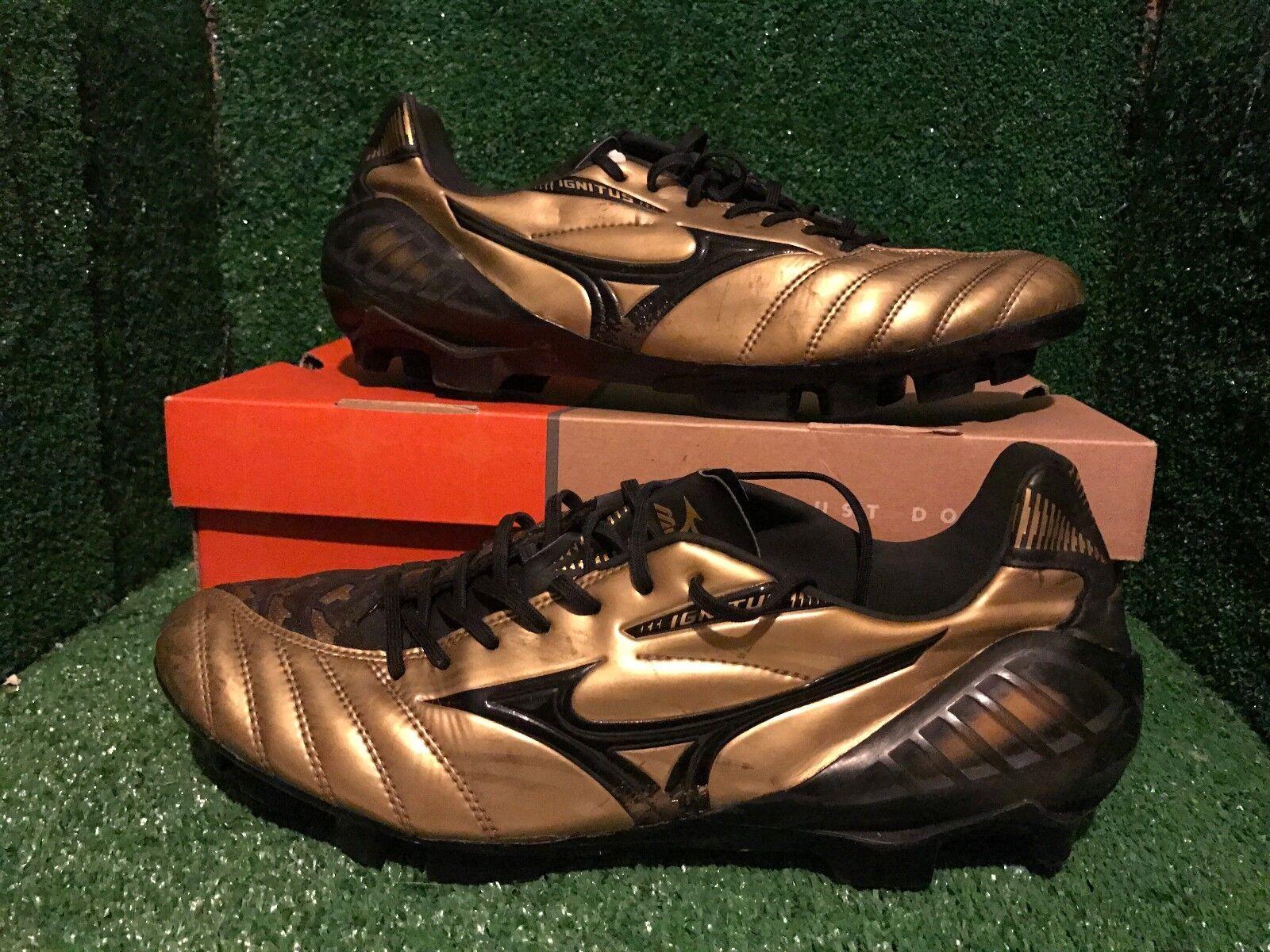 Mizuno Morelia Neo PS Prime Piel oro Botines De Fútbol Zapatos botas 44,5 10 11