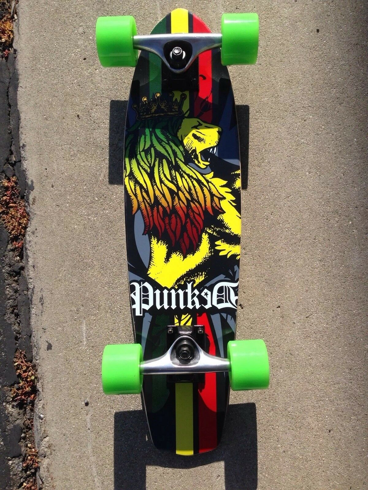 Yocaher Micro Cruiser Rasta Complete Royal Lion Crown Red Green Yellow Wooden