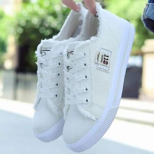 White sneakers Women Canvas Shoes Large