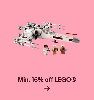 Min. 15% off Lego