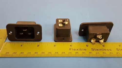 IEC Panel Mount 16A 250VAC 4798.9200 Power Entry Connector Receptacle Male