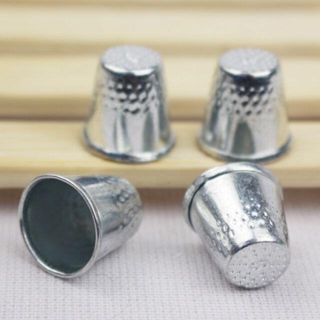 10Dressmakers Vintage Metal Finger Thimble Protector Sewing Neddle Shield Pip EG