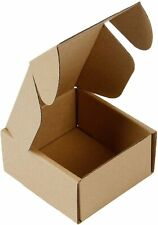 50 Pck Cardboard Small Shipping Boxes Corrugated Mailers 4x4x2