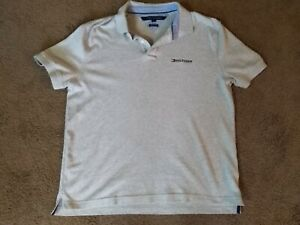 TOMMY-HILFIGER-Men-039-s-Classic-Fit-Embroidered-Logo-Polo-Shirt-Gray-Size-Large-L