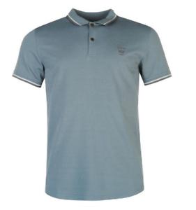 Details about Firetrap Mens Mirage Blue Polo Tshirt Short Sleeves UK size M Medium